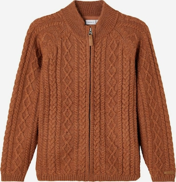 NAME IT Knit Cardigan in Brown