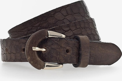 b.belt Handmade in Germany Ceinture 'Charleen' en brun foncé, Vue avec produit