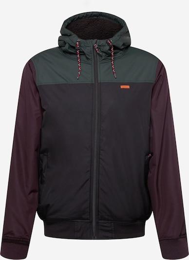 Iriedaily Jacke in dunkelgrün / weinrot / schwarz, Produktansicht
