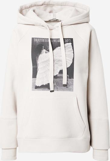 AllSaints Sweatshirt 'Olivia' in hellgrau / schwarz / weiß, Produktansicht