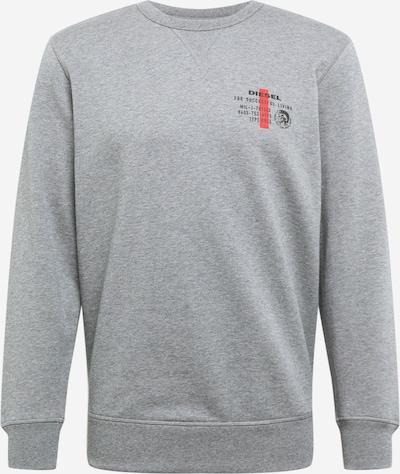 DIESEL Sweat-shirt 'Willy' en anthracite / gris chiné / grenadine, Vue avec produit