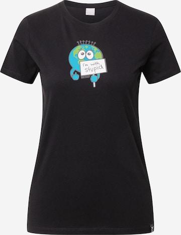 Iriedaily - Camiseta 'Im With Stupid' en negro