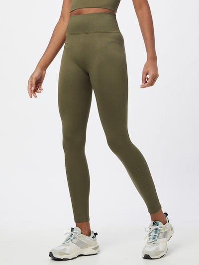 ABOUT YOU Leggings 'Daria' in khaki: Frontalansicht