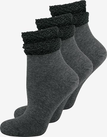ELBEO Damensocken ' 3-Pack Glamour Dream ' in Grau