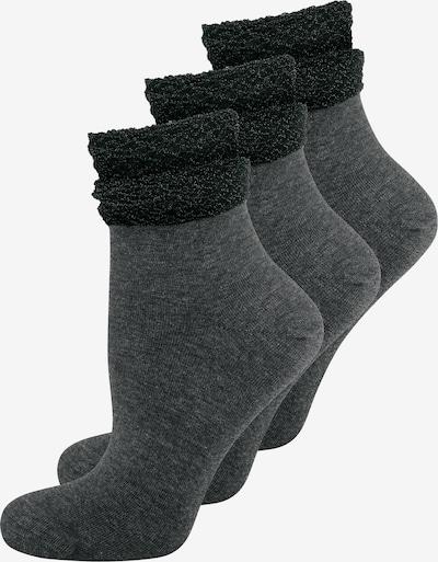ELBEO Socks ' 3-Pack Glamour Dream ' in Grey / Black, Item view