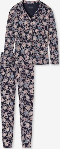 SCHIESSER Pajama 'Feminine Floral' in Blue