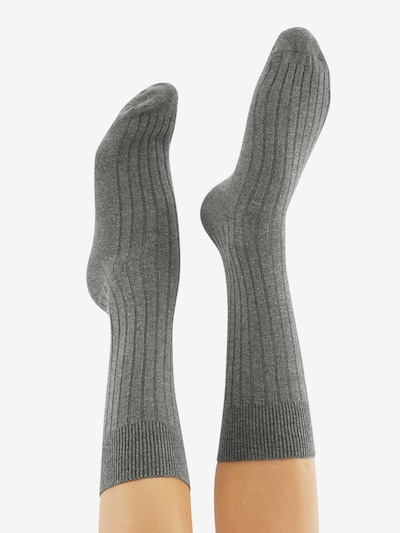 CHEERIO* Socken 'TOUGH GUY' in grau: Rückansicht
