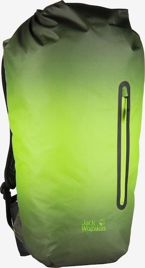 JACK WOLFSKIN Rucksack in neongrün / schwarz, Produktansicht