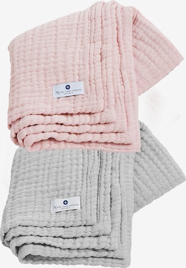 nordic coast company Musselindecke 4in1 Decke 2er Set Grau-Rosa in mischfarben, Produktansicht