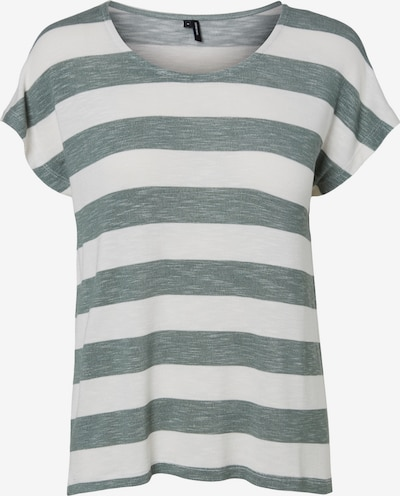 VERO MODA Shirt in Green mottled / White, Item view