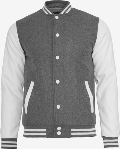Urban Classics Prechodná bunda 'Oldschool' - tmavosivá / biela, Produkt
