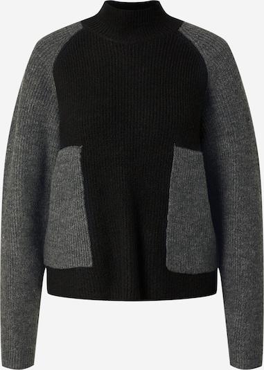 Noisy may Pullover 'ZELLA' in graumeliert / schwarz, Produktansicht