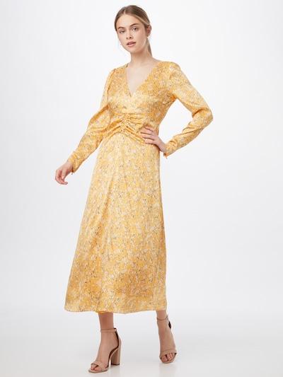 HUGO Šaty 'Kinale' - zlatá / černá / bílá, Model/ka