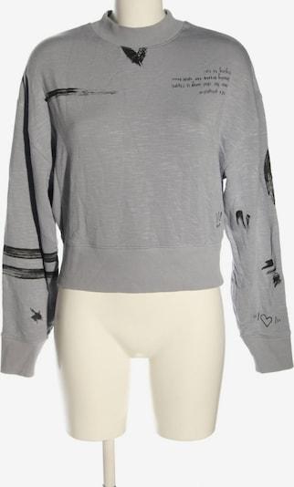 Fabletics Sweatshirt in XS in hellgrau / schwarz, Produktansicht