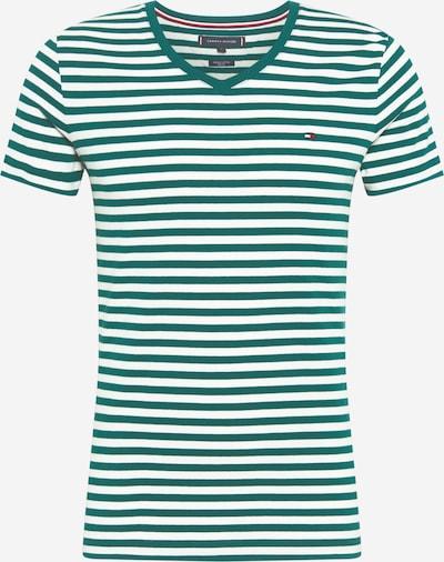 TOMMY HILFIGER Shirt in de kleur Groen / Wit, Productweergave