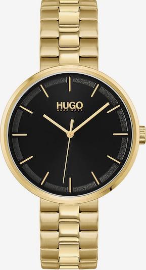 HUGO Analoguhr in gold / schwarz, Produktansicht