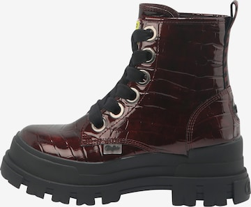 BUFFALO Schnürstiefel 'ASPHA LACE UP HI' in Rot
