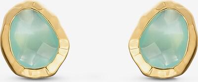 QOOQI QOOQI Damen-Ohrstecker Frühjahr 925er Silber in gelb, Produktansicht
