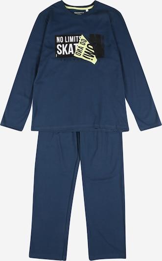 SANETTA Schlafanzug en marine / hellgelb / schwarz / weiß, Vue avec produit
