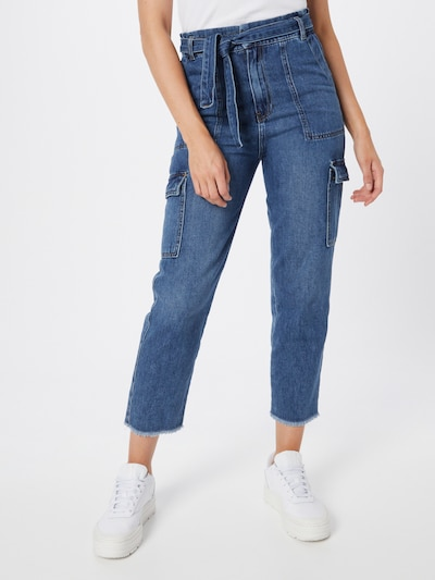 LTB Cargo Jeans 'Godiva' in Blue denim, View model