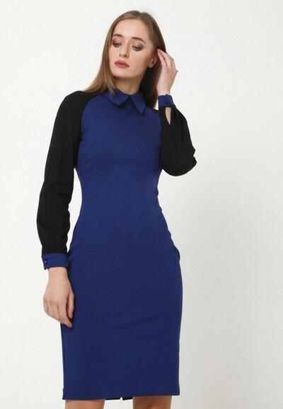 Madam-T Kleid 'AVIRA' in blau / schwarz, Modelansicht