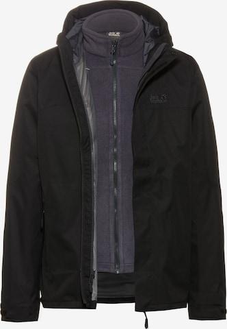 JACK WOLFSKIN Outdoor jacket 'Terrace 3in1' in Black