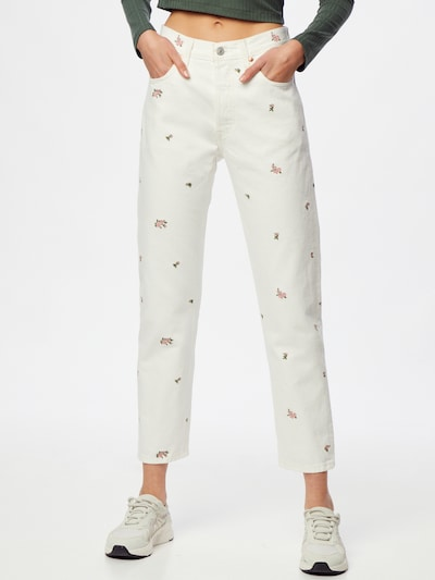 LEVI'S Jeans in apfel / rosé / white denim, Modelansicht