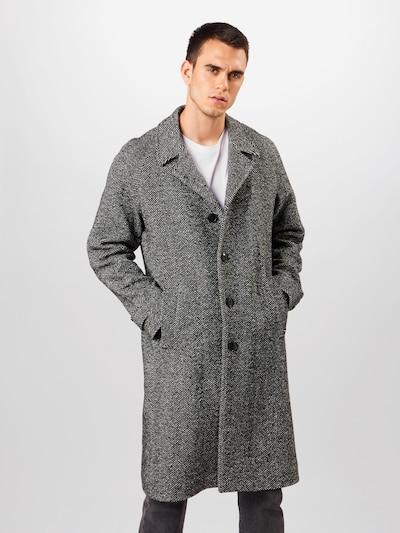 Tommy Hilfiger Tailored Přechodný kabát 'HERRINGBONE' - šedá / černá, Model/ka