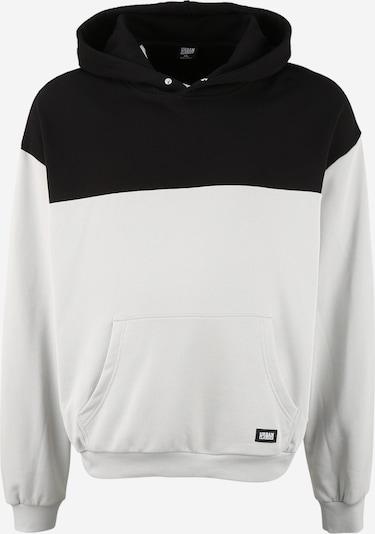 Urban Classics Plus Size Sweatshirt in de kleur Lichtgrijs / Zwart, Productweergave
