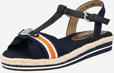 Sandale TOM TAILOR pe navy / roșu / alb, Vizualizare produs