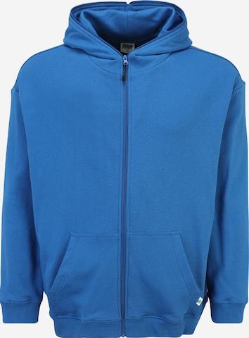 Giacca di felpa di Urban Classics Plus Size in blu