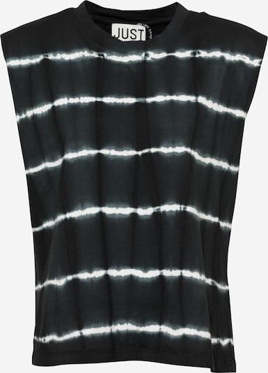 JUST FEMALE Top 'Beijing' in schwarz / weiß, Produktansicht