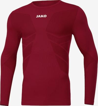 JAKO Sportunterwäsche in dunkelrot / weiß, Produktansicht
