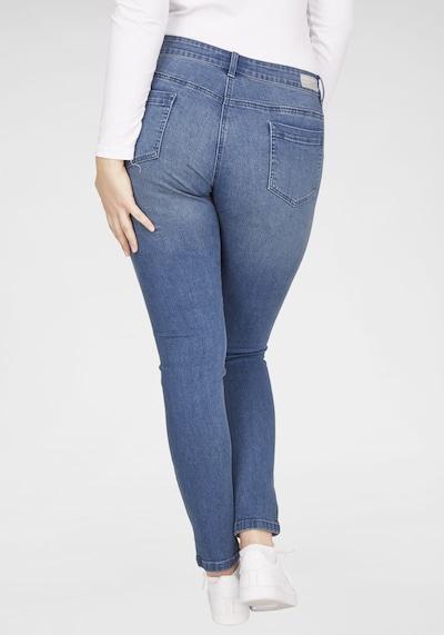 Navigazione Stretch-Jeans mit Galonstreifen in blau, Modelansicht