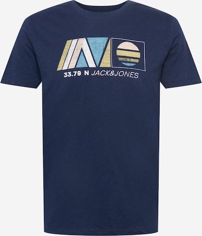JACK & JONES T-Krekls 'NEWPORT', krāsa - cementpelēks / tumši zils / debeszils / gaiši dzeltens / balts, Preces skats