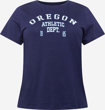 Tricou 'COLLEGE' ONLY Carmakoma pe albastru / albastru închis / alb, Vizualizare produs