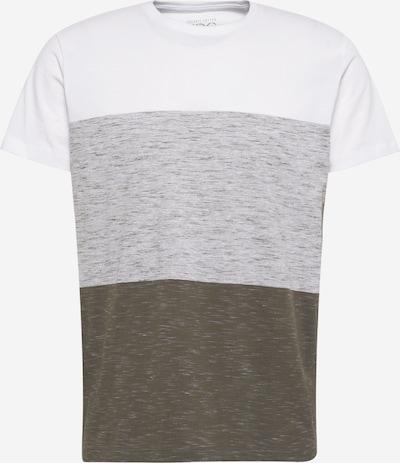 EDC BY ESPRIT Shirt in grau / khaki / weiß, Produktansicht