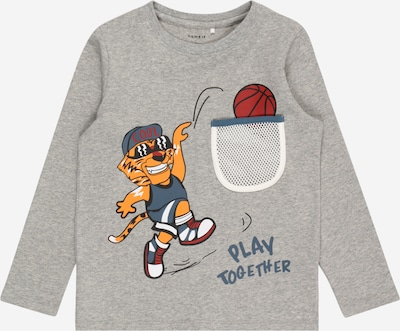 NAME IT Shirt 'BOOM' in graumeliert / mischfarben, Produktansicht
