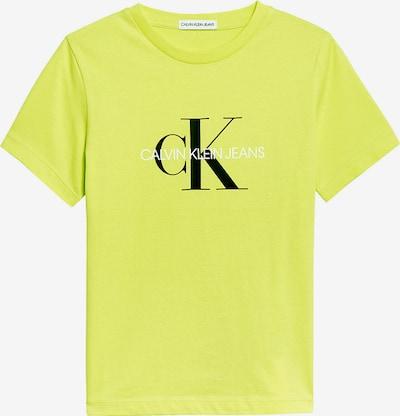 Calvin Klein Jeans Тениска в неоново жълто / черно / бяло, Преглед на продукта