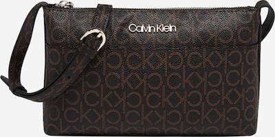 Calvin Klein Sac à bandoulière 'Monogram' en marron / brun foncé, Vue avec produit