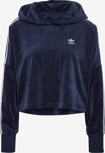 ADIDAS ORIGINALS Hoodie ' Velour Cropped ' in dunkelblau / weiß, Produktansicht