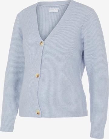 Pieces Maternity Knit Cardigan 'Ellen' in Blue