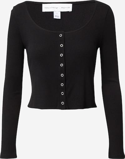NU-IN T-shirt 'Henley' en noir, Vue avec produit