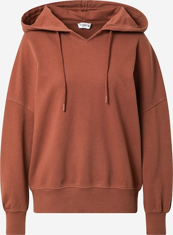 ABOUT YOU Limited Hoodie 'Mia' by Mimoza - (GOTS) in Braun