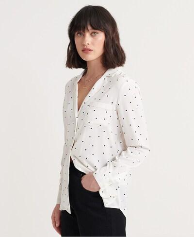 Superdry Bluse 'Blair in schwarz / weiß, Modelansicht