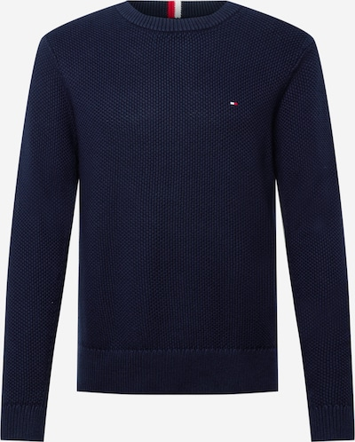 Tommy Hilfiger Tailored Sweater in Dark blue / Fire red / White, Item view