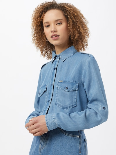 LTB Bluse 'SIMELE' in blue denim, Modelansicht