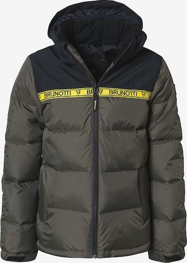 BRUNOTTI Skijacke 'ROLF' in blau / gelb / khaki, Produktansicht