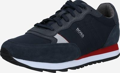 BOSS Casual Sneaker 'Parkour' in dunkelblau / hellgrau / rot, Produktansicht
