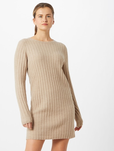 VILA Pletena haljina 'Nikki' u bež, Prikaz modela
